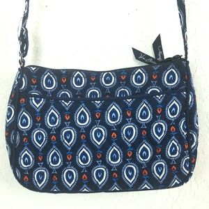 Vera Bradley Small Adjustable Blue Shoulder Bag